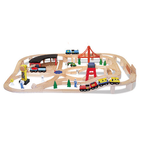 M&D Wooden Railway Set