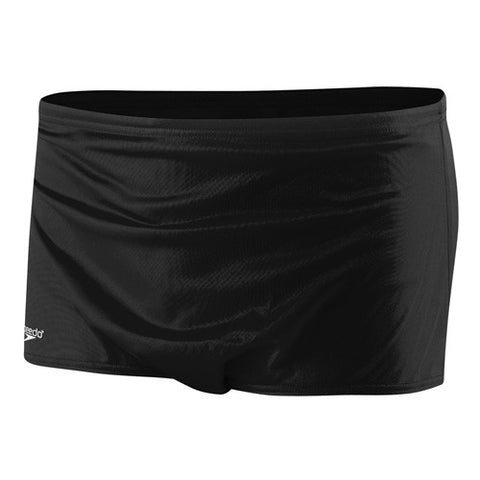 Speedo Solid Trainer Square Leg Swimsuit Black 32