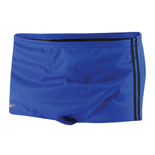 Speedo Mesh Trainer Square Leg Swimsuit Speedo Blue 38