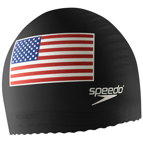 Speedo USA Flag Swim Cap Black