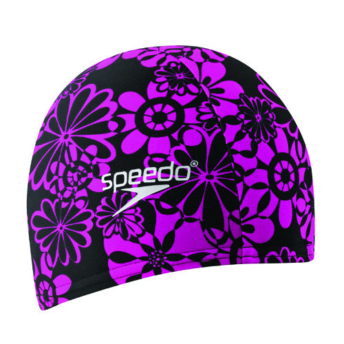Speedo Lycra Swim Cap Black/Hot Pink