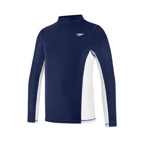 Speedo Long Sleeve Rashguard Deep Water MD