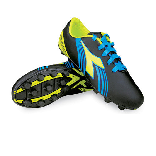 Diadora Avanti MD Jr Black Fluo Yellow Blue 11.5 Youth