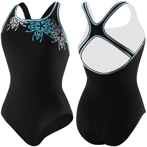 Speedo Brilliant Blossom Ultraback Black 18