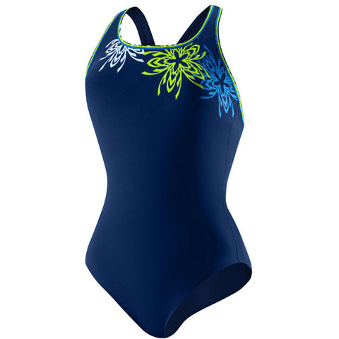 Speedo Brilliant Blossom Ultraback Nautical Navy 18