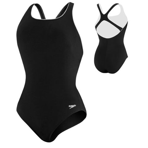 Speedo Hydro Bra Mod Piped Ultra Black 10