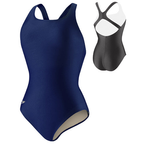 Speedo Solid Moderate Ultraback Swimsuit Blue 14
