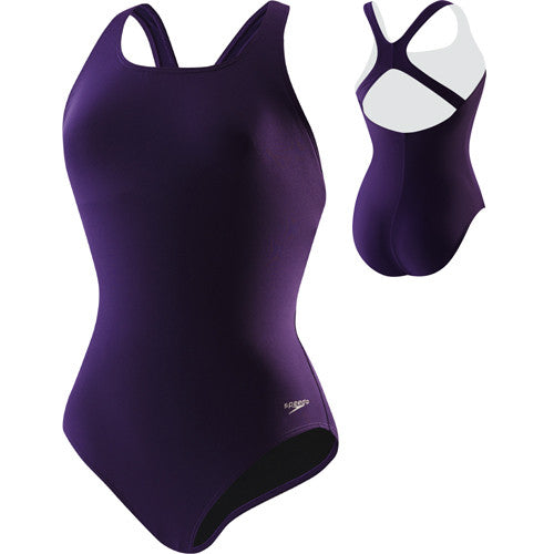 Speedo Solid Moderate Ultraback Swimsuit C Wild Berry 10