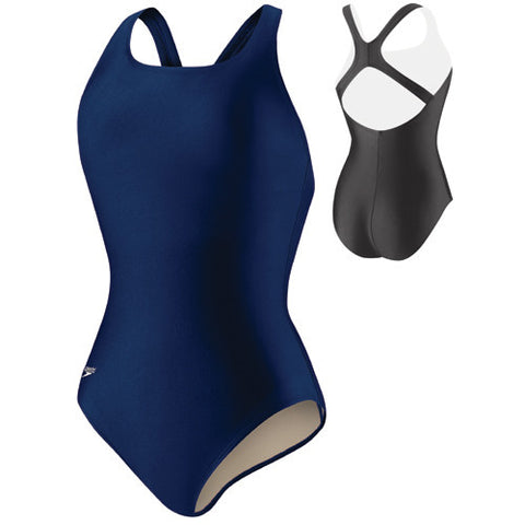 Speedo Lycra Solid Moderate Long Blue 14L