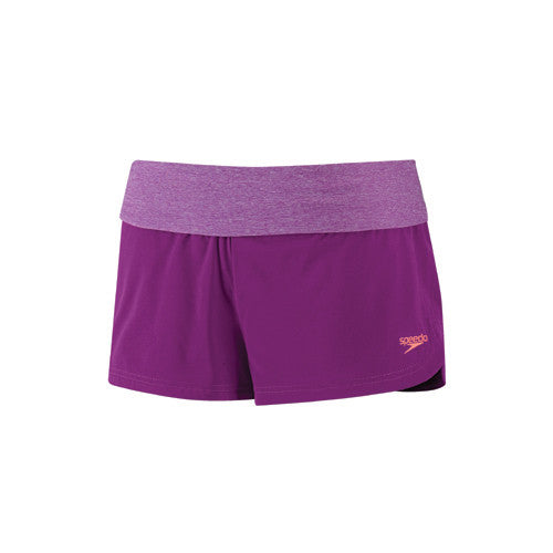 Speedo Heathered Stretch Short Vivid Violet LG