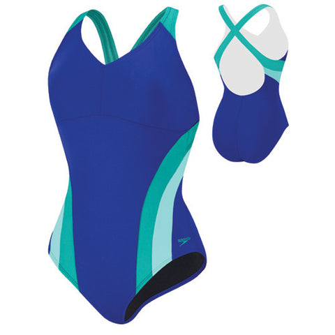 Speedo Flow Active Poly 1pc Indigo Blue 12