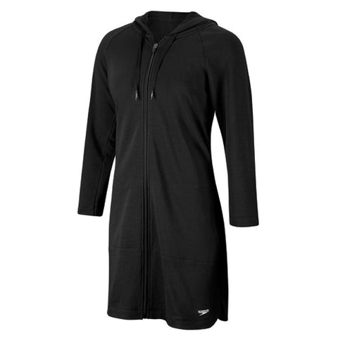 Speedo Aquatic Fitness Hooded Robe Black SM