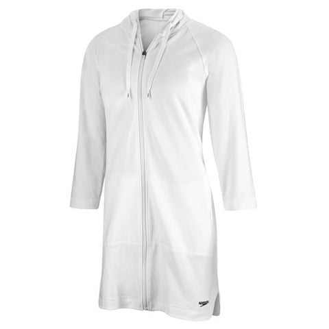 Speedo Aquatic Fitness Hooded Robe White LG