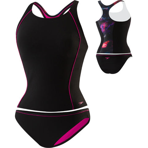 Speedo Galaxy Tankini Set Black 12