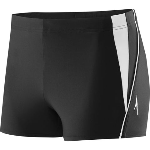 Speedo Fitness Splice Square Leg Black/Rock LG