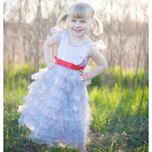 Creative Fancy Nancy Lilac Ruffle Dress