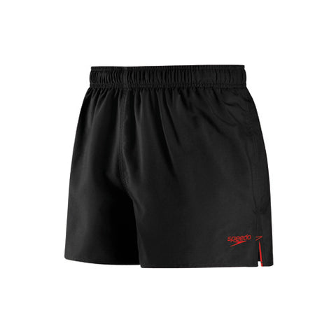 Speedo Solid Surfrunner Swim Shorts Black/Red LG