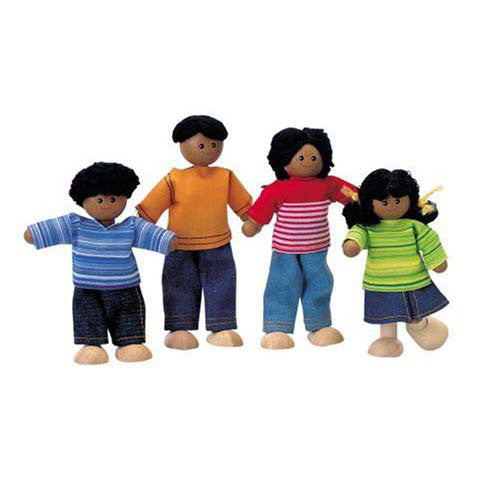 Plan Toys African American Doll Family