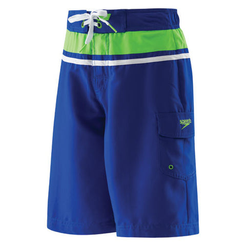 Speedo Horizontal Splice Short Atlantic Blue MD
