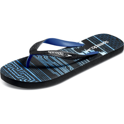 Speedo Men's LocoZorillas Sandal Black/Blue 10