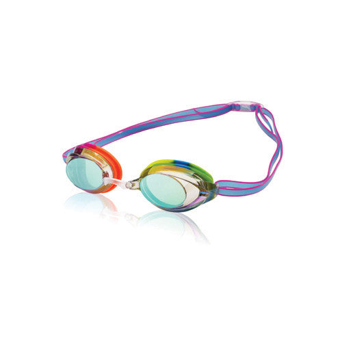 Speedo Jr. Vanquisher 2.0 Mirrored Clear/Rainbow Brights