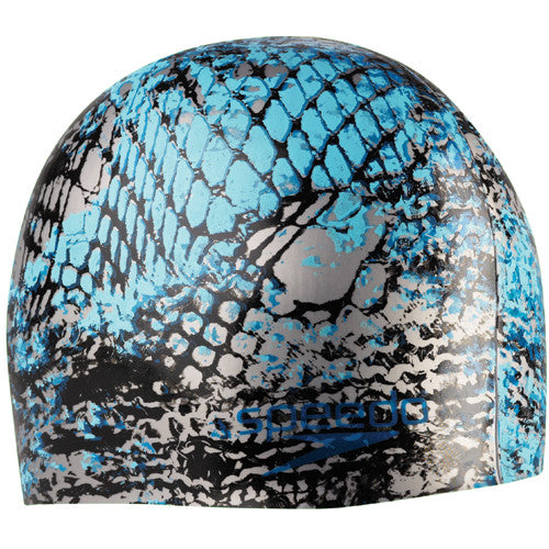 Speedo Net Effect Silicone Cap Electric Blue