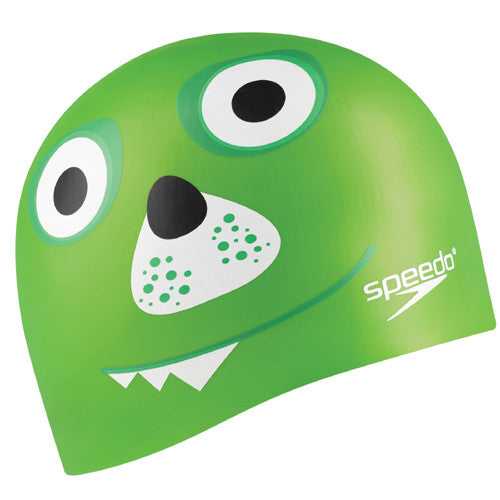 Speedo Jr Silicone Critter Cap Lime