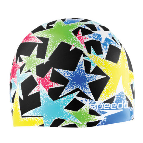 Speedo Black Star Silicone Cap Black