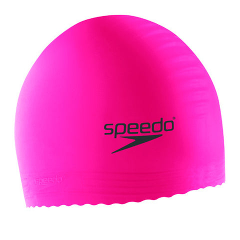 Speedo Youth Latex Swim Cap Hot Pink