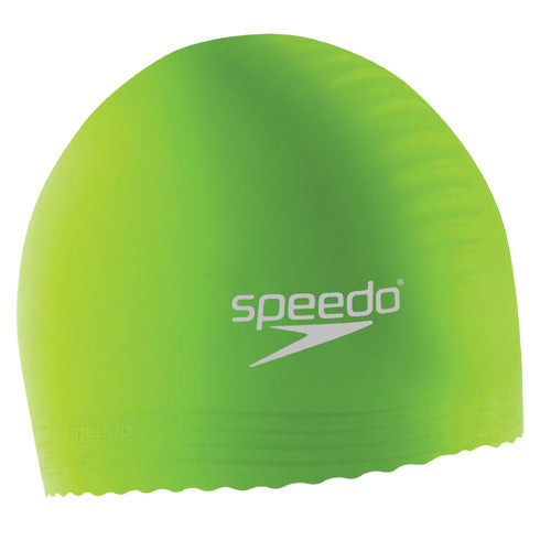 Speedo Youth Latex Swim Cap Green