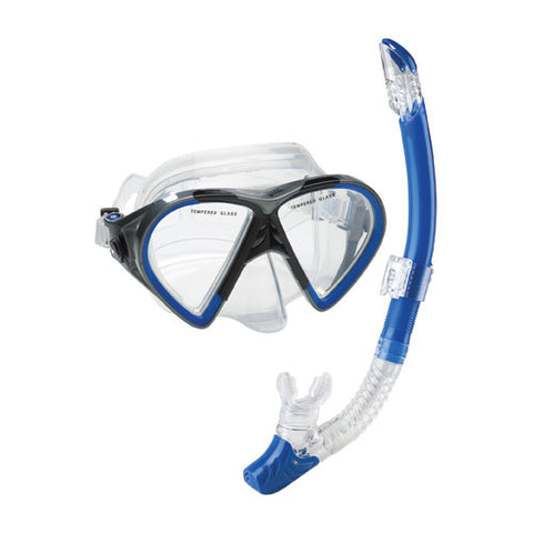Speedo Hyperfluid Mask/Snorkel Set Blue