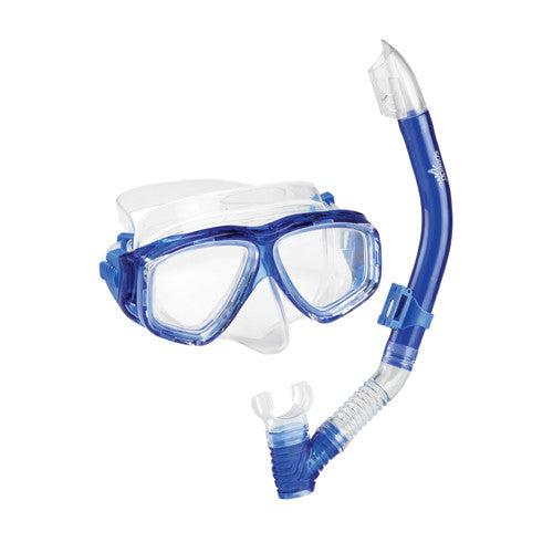 Speedo Adult Adventure Mask/Snorkel Set Blue