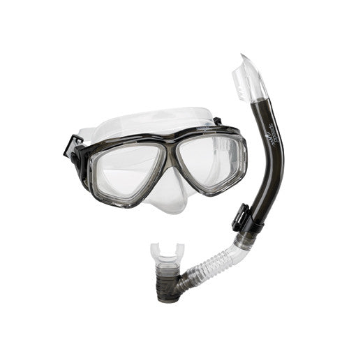 Speedo Adult Adventure Mask/Snorkel Set Smoke