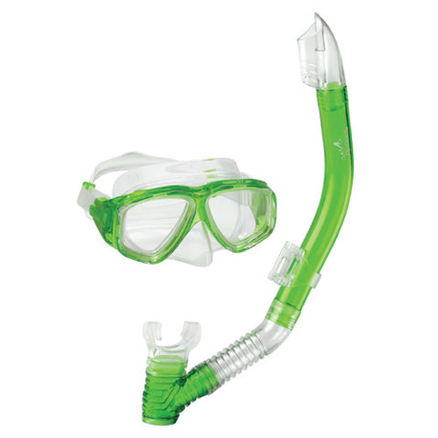 Speedo Jr. Adventure Mask/Snorkel Set Green