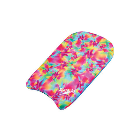 Speedo TieDye Kickboard Clear/Rainbow Brights