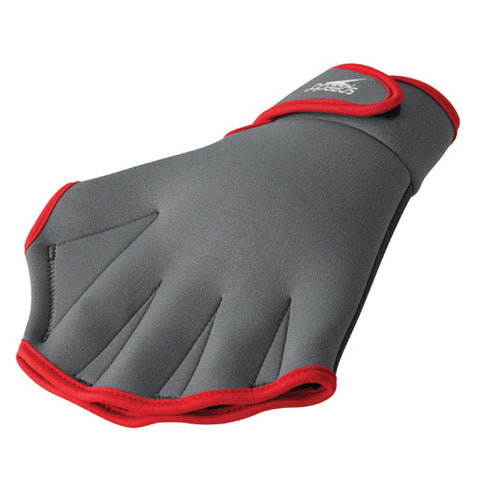 Speedo Aqua Fitness Glove Charcoal/Red LG