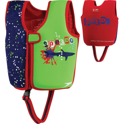 Speedo Printed Neoprene Swim Vest Blue MD