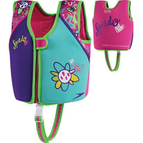 Speedo Printed Neoprene Swim Vest Aqua MD