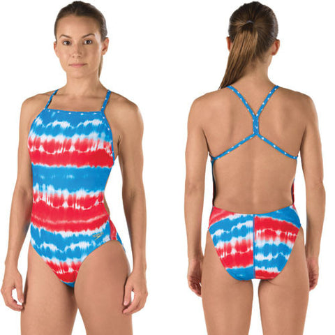 Speedo Printed One Bk Blue 32