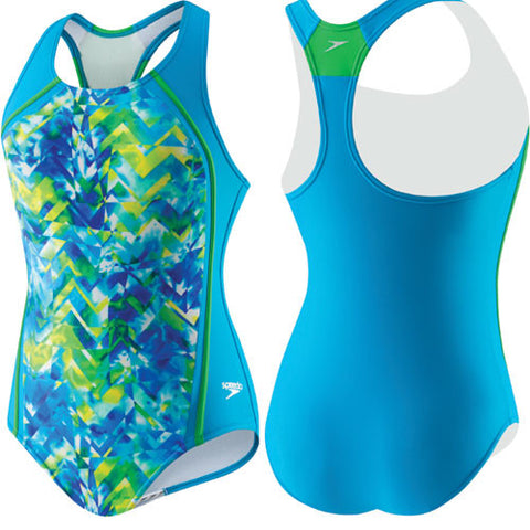 Speedo TyeDye Sport Splice Pop Blue 14