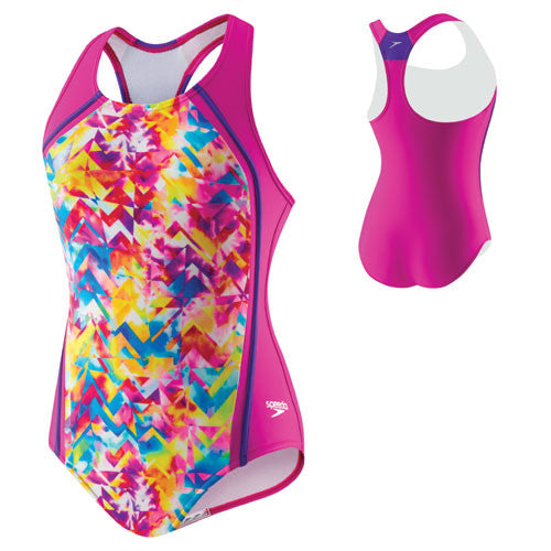 Speedo TyeDye Sport Splice New Blush 12