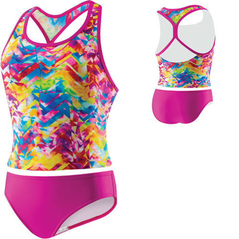 Speedo TyeDye Keyhole Tankini New Blush 10