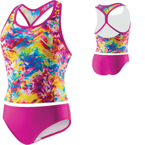 Speedo TyeDye Keyhole Tankini New Blush 16