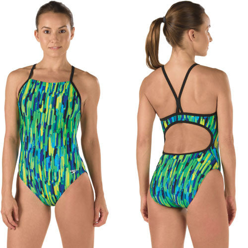 Speedo Lycra Rio Lights Freebk Deep 38