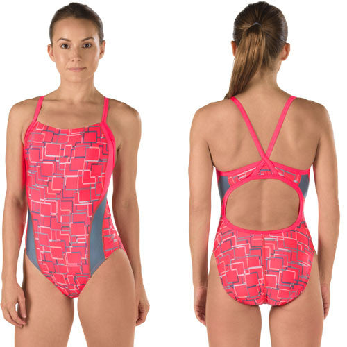 Speedo Lycra Color Circuit Flybk Atomic Red 34
