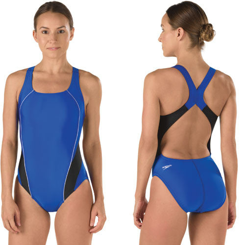 Speedo ProLT Lycra DropBk Blue/Black 38