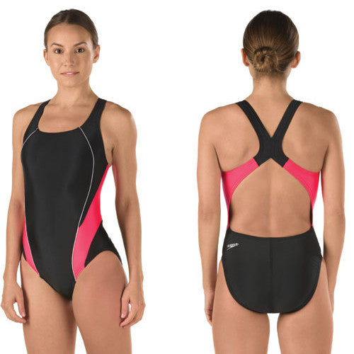 Speedo ProLT Lycra DropBk Black/Red 32