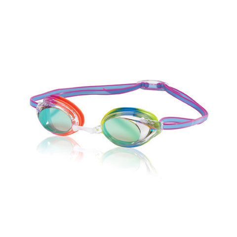 Speedo Vanquisher 2.0 Mirrored Clear/Rainbow Brights