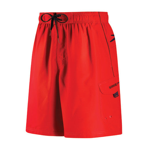 Speedo Marina 20 Inch Shorts Fiesta Red MD