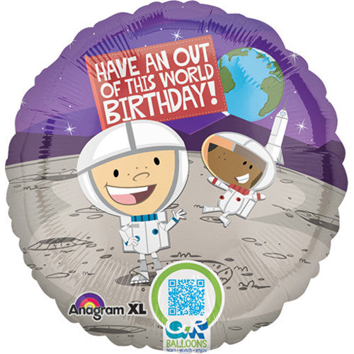 B Everywhere Birthday Outer Space 18""
